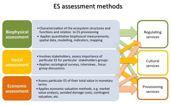 Ecosystem-service-assessment methods