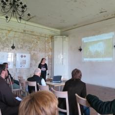 Merle Kuris having presentation on LIFE Viva Grass project