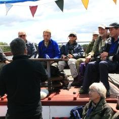 [:en] Project team interviewed tourists[:lt]Projekto komanda apklausė ornitologų grupę