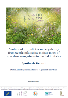 Analysis of the policies and regulatory framework influencing maintenance of grassland ecosystems in the Baltic States