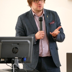 Diskusijos moderatorius Žymantas Morkvėnas.Nuotrauka Vaidoto Vilko